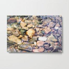 River Pebble Ripple Metal Print
