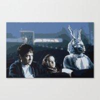 donnie darko Canvas Prints featuring Donnie Darko by Brontor