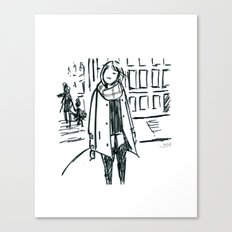 Brush Pen Fashion Illustration - Dreamer Canvas Print