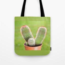 Prickly cactus flowering pink flowerets Tote Bag