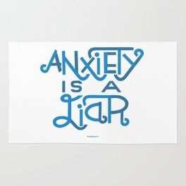 Anxiety is A Liar (light blue) Rug