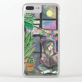 Find Your Happy Place Clear iPhone Case