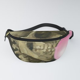 Van Gogh Bubble Gum Head of a skeleton with a burning cigarette portrait painting Fanny Pack