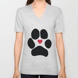 Dog Paw Unisex V-Neck