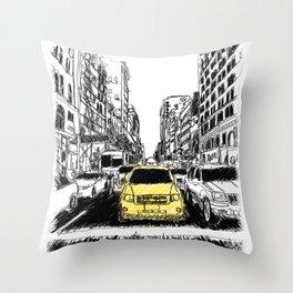 Excape Throw Pillow