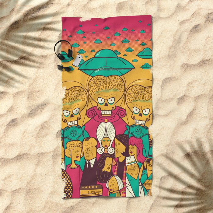Mars Attacks! Beach Towel