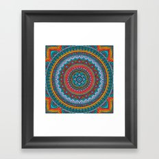 Hippie mandala 32 Framed Art Print