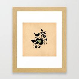 South Carolina - State Papercut Print Framed Art Print