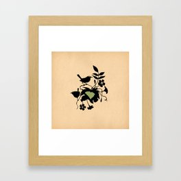 South Carolina - State Papercut Print Framed Art Print