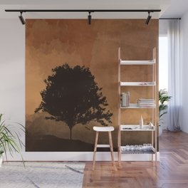 Warm Silhouette Tree Wall Mural