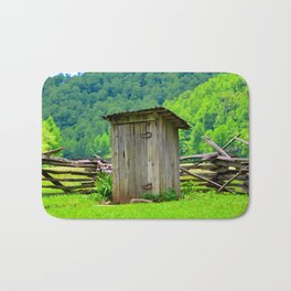 Country outhouse Bath Mat