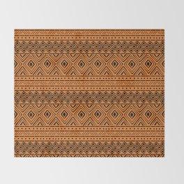 African Mud Cloth // Orange Throw Blanket