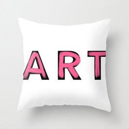 Minimalist Art Pink Brush Strokes Throw Pillow
