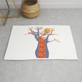 African Baobab tree of life at Sunset Rug