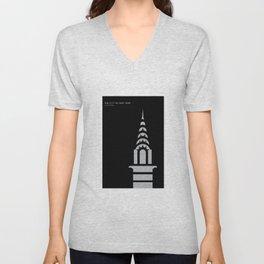 New York Skyline: Chrysler Building Unisex V-Neck