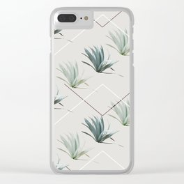 Succulents with Chevrons Clear iPhone Case