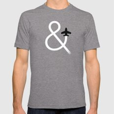 And Fly Tri-Grey LARGE Mens Fitted Tee