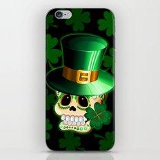 St Patrick Skull Cartoon  iPhone & iPod Skin