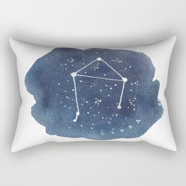 libra constellation zodiac Rectangular Pillow