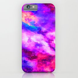 Mystical Starry Space Nebulous - Watercolor Galaxy Painting iPhone Case