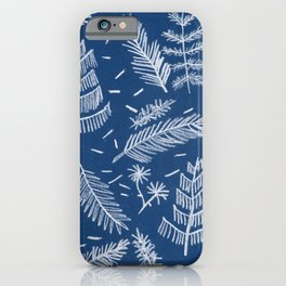 White Pine on Speckled Blue iPhone Case