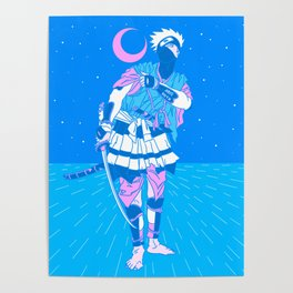 Aesthetic Samurai (Traditional Japanese Anime Interpretation) Poster