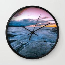 Arctic sunset Wall Clock