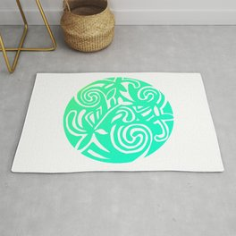 Inspired by a design in the Book of Kells Pastel Rug