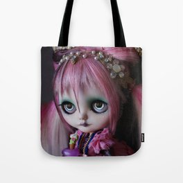 LITTLE OCTOPUS CUSTOM BLYTHE ART DOLL PINK NAVY Tote Bag