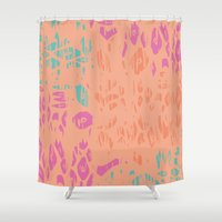 leopard Shower Curtains featuring leopard by Grace