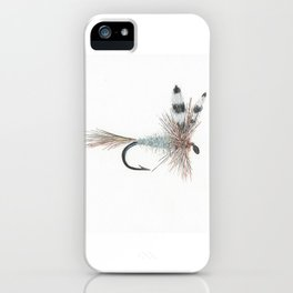Adams Dry Fly Watercolor Print iPhone Case