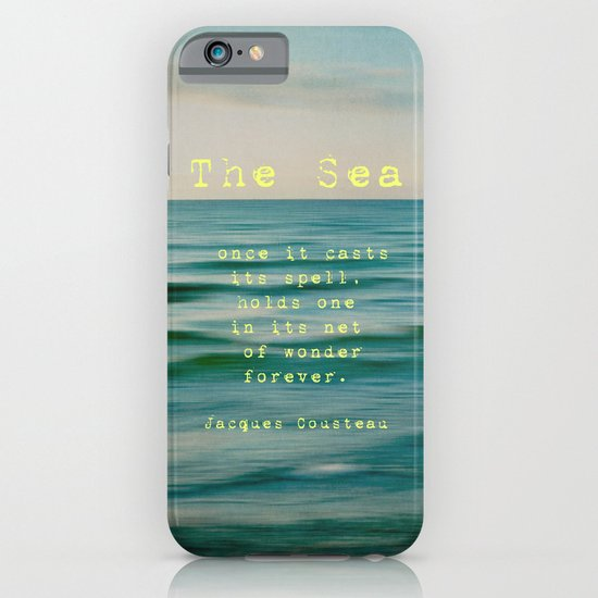 The Sea - typo iPhone & iPod Case