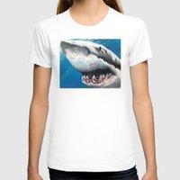 shark T-shirts featuring Shark by Kristin Frenzel
