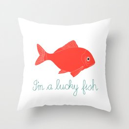 Lucky Fish Throw Pillow