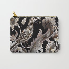 Silver Bird Pietra Dura Carry-All Pouch