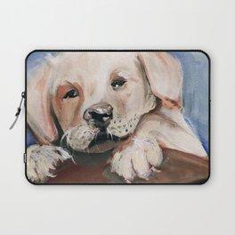 Puppy Touchdown Laptop Sleeve