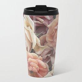 Great Garden Roses,peach Travel Mug
