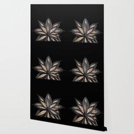 Gray Black Agave with Gold Glitter #1 #shiny #tropical #decor #art #society6 Wallpaper