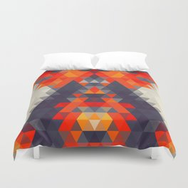 Abstract Triangle Mountain Duvet Cover