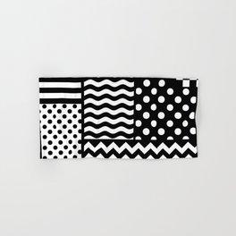 Mixed Patterns (Horizontal Stripes/Polka Dots/Wavy Stripes/Chevron/Checker) Hand & Bath Towel