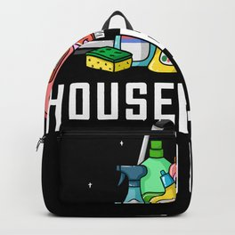 Housekeeping Cleaning Gift Housekeeper Housewife Backpack