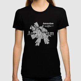 Amsterdam Map T-shirt