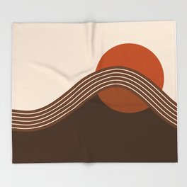 Cocoa Sundown Stripes Throw Blanket