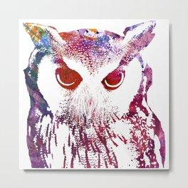 Street Wise Owl Metal Print