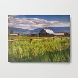 Mormon Row - Grand Teton National Park, Wyoming Metal Print