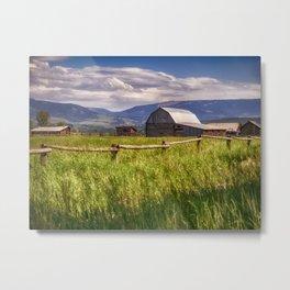 Mormon Row - Grand Teton National Park, Wyoming Metal Print