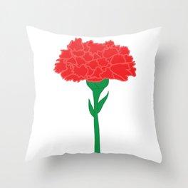 Carnation Illustration Throw Pillow
