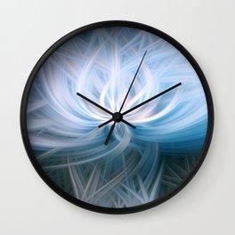 Blue Surf Swirl Blend Wall Clock