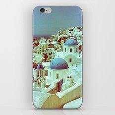 Santorini in Raspberry and Blue: shot using Revolog 600nm special effects film iPhone & iPod Skin