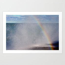 Lake Michigan Natural Fountains #5 - Sunbow (Chicago Waves Collection) Art Print